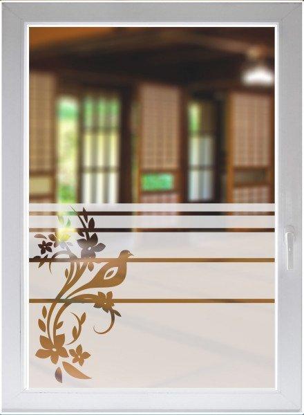 Fensterfolie Fensterbild Sichtschutzfolie Glasdekor Ornament satiniert blickdicht