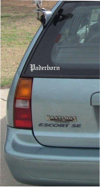 Stadt Paderborn - 200x50mm - Aufkleber - Autoaufkleber