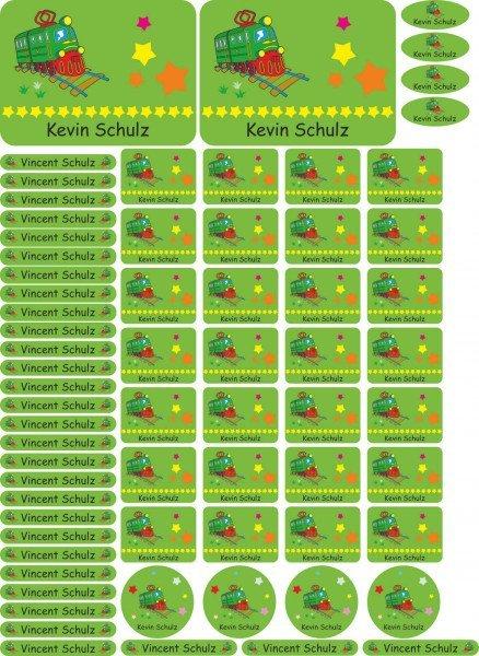 Namensaufkleber Sticker - A4-Bogen - individueller Aufdruck