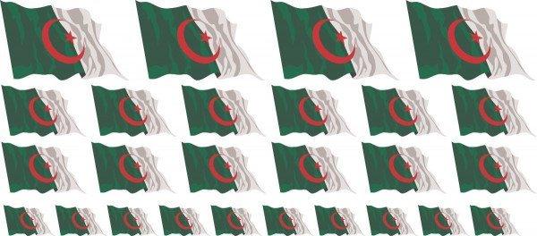 Mini Fahnen / Flaggen - Algerien Set