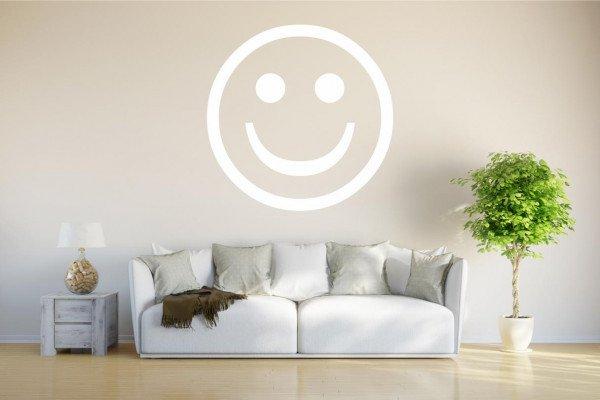 Wandtattoo - w704 glückliches Lächeln - glücklicher Smiley - - Wandaufkleber