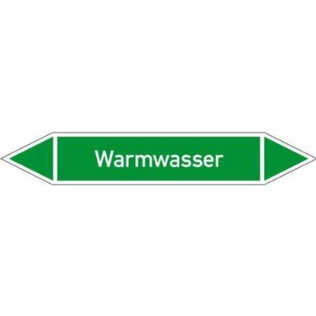Rohrleitungskennzeichnung/Pfeilschild Gruppe1 Wasser - 6x2,6cm DE341