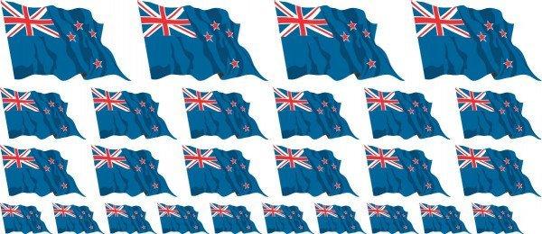 Mini Aufkleber Set - Neuseeland