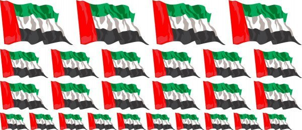 Mini Aufkleber Set - Vereinigte Arabische Emirate