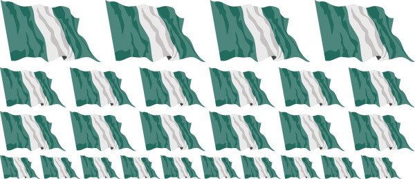Mini Aufkleber Set - Nigeria
