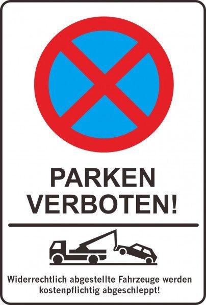 Parkplatzschild - PARKEN verboten ! - 200x300 mm