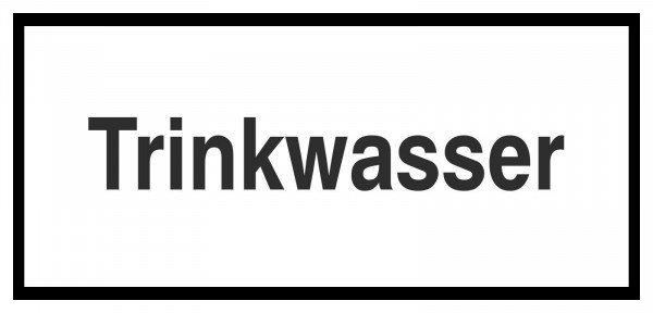 Trinkwasser Hinweisschild zur Betriebskennzeichnung, 12,50x6 cm