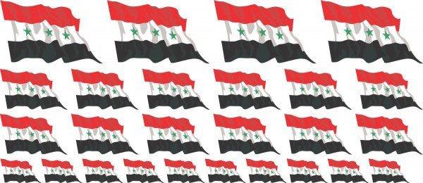 Mini Aufkleber Set - Fahne - Irak