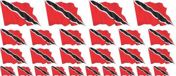Mini Aufkleber Set - Trinidad & Tobago