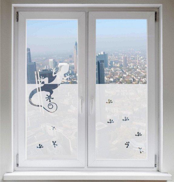 Sichtschutz Sonnenschutz Fensterbild Glasdekorfolie Gecko satiniert blickdicht ORACAL®