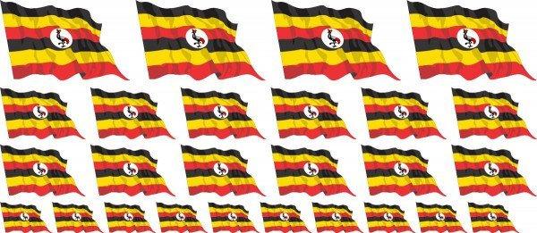 Mini Aufkleber Set - Uganda