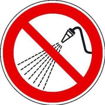 Mit Wasser spritzen verboten - 40cm DE1013