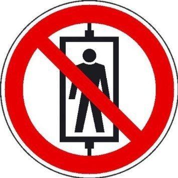 Personenbeförderung verboten Verbotsschild - 10cm DE788