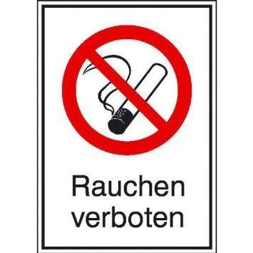 Rauchen verboten Verbotsschild - 13,10x18,50cm DE822
