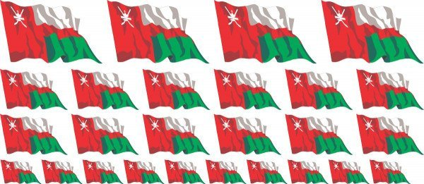 Mini Aufkleber Set - Oman
