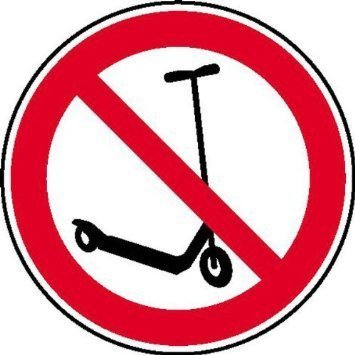 Kickboard fahren verboten Verbotsschild - 10cm DE745