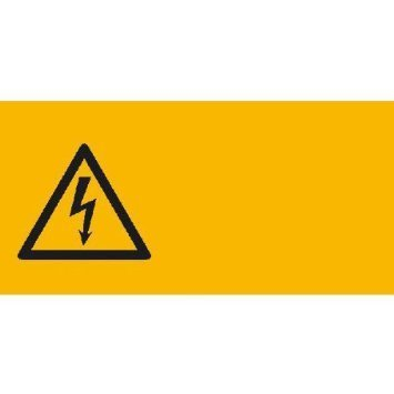 Warnung vor gefährlicher elektrischer Spannung - 13,10x6,50cm DE913