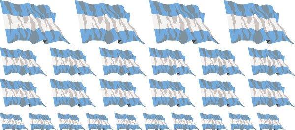 Mini Fahnen / Flaggen - Argentinien