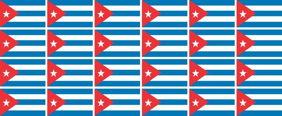 Autoaufkleber Sticker Fahne Kuba wehend Flagge Aufkleber