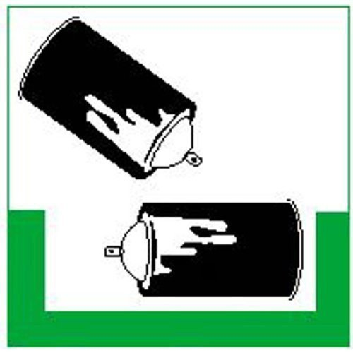 Spraydosen RESIGN/Symbolschild - 10x10cm DE203