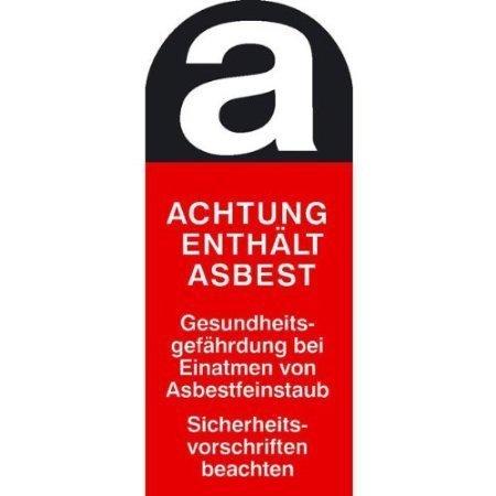 Gefahrstoffkennzeichnung, Asbestfeinstaub - 5x12cm DE376