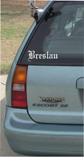 Stadt Breslau - 200x70mm - Aufkleber - Autoaufkleber