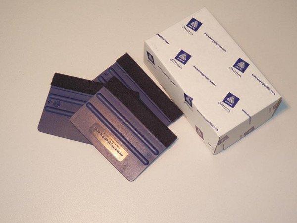 Avery Kunststoffrakel Pro mit Filz blue (mittel) 10cm