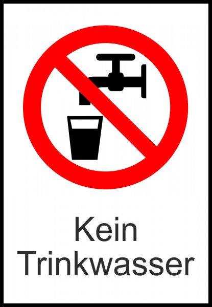 Verbots-Kombischild Kein Trinkwasser, 13,10x18,50 cm