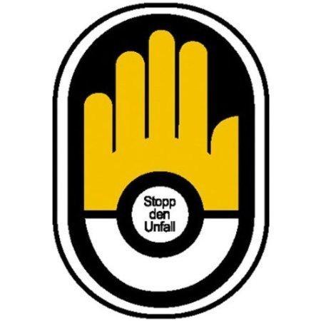 Stopp den Unfall Motivationsaufkleber/BG - 5,80x8,70cm 0