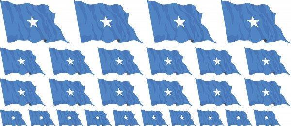 Mini Aufkleber Set - Somalia