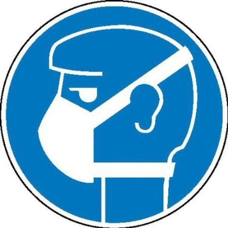 Leichten Atemschutz tragen Gebotsschild - 20cm DE741