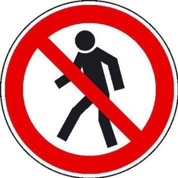 Für Fußgänger verboten Verbotsschild - 31,5cm DE755