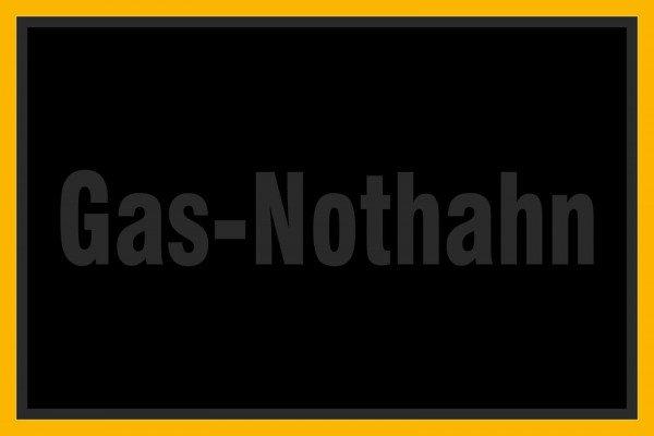 Gas-Nothahn - 30x20 cm