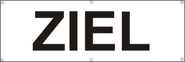 Werbeplane / Gerüstplane - p086 - ZIEL - NEU - für Baustelle, Garten, Zaun oder Veranstaltung