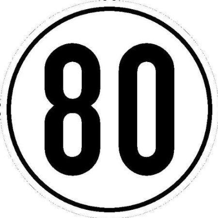 Geschwindigkeitsschild für Kfz z. Angabe km/h in - 20cm DE401