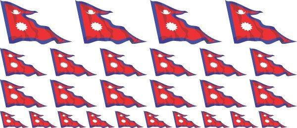 Mini Aufkleber Set - Nepal