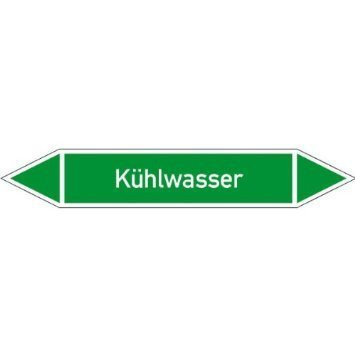 Rohrleitungskennzeichnung/Pfeilschild Kühlwasser - 29,70x21cm DE957