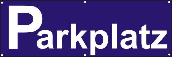 Werbeplane / Gerüstplane - p094 - Parkplatz - NEU - für Baustelle, Garten, Zaun oder Veranstaltung
