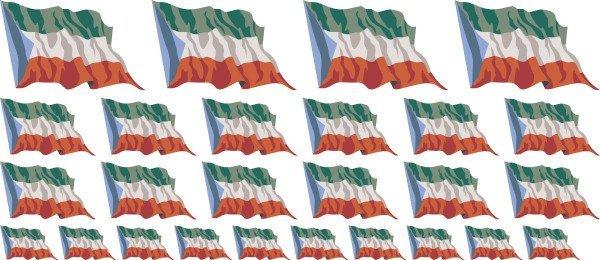 Mini Aufkleber Set - Fahne - Äquatorialguinea