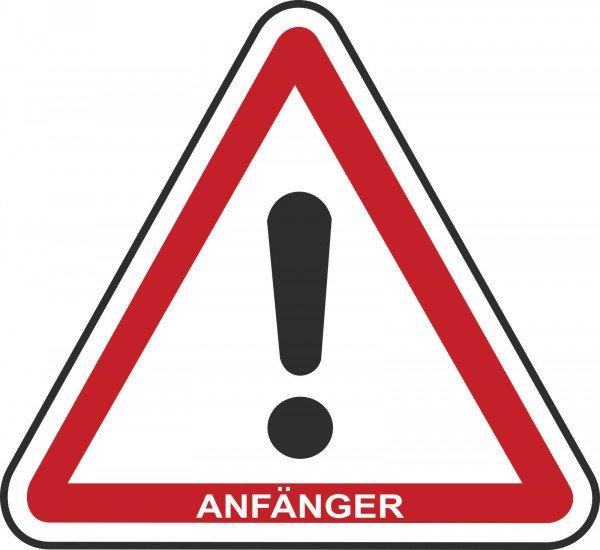 Anfänger Hinweisschild für Kraftfahrzeuge, 20cm