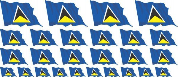 Mini Aufkleber Set - St Lucia