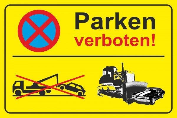 Parkplatzschild - Parken verboten - 300x200 cm