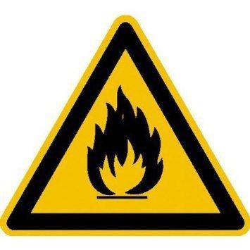 Warnung vor feuergefährlichen Stoffen Warnschild - 40cm DE899