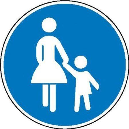 Sonderweg Fußgänger Verkehrsschild, Büro Sicherheitender - 20cm DE478