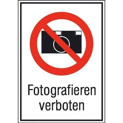 Fotografieren verboten - 13,10x18,50cm DE84