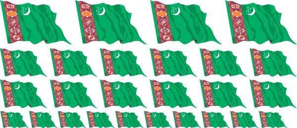 Mini Aufkleber Set - Turkmenistan