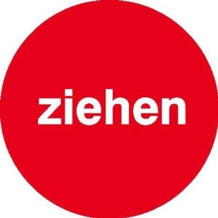 Ziehen-rot/weiß Türschilder, Büro Sicherheit - 6cm DE521