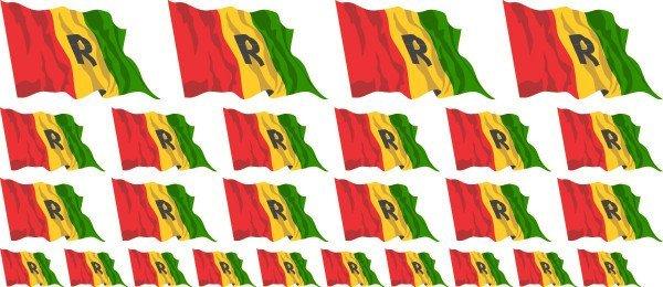 Mini Aufkleber Set - Ruanda