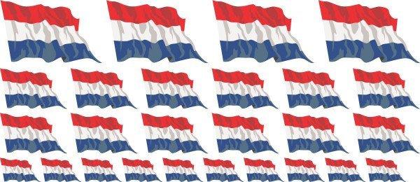 Mini Aufkleber Set - Niederlande