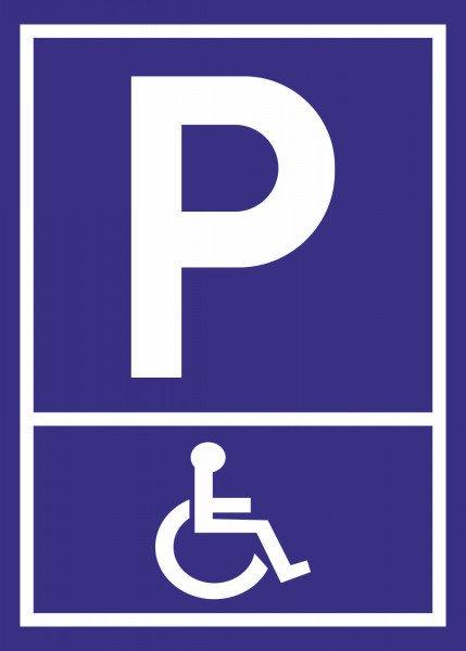 Parkplatzschild - Behindertenparkplatz - 21x15 cm